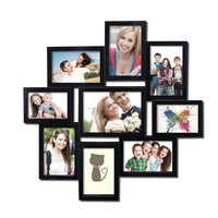 Decorative Black Polyresin Wall Hanging Collage Picture Photo Frame