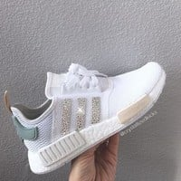 Adidas NMD Runner Made with SWAROVSKI? Xirius Rose Crystals - White/Tactile Green