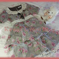 Liz Lisa Floral Plaid Organza Overlay Set Up (NwoT)