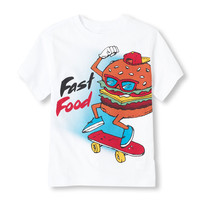 Short Sleeve 'Fast Food' Graphic Tee | The Children's Place