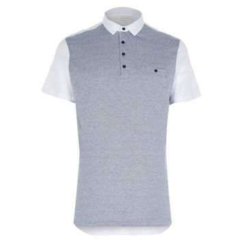 Two-Tone Jacquard Polo Shirt
