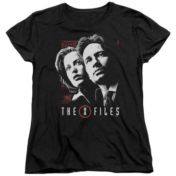 X Files - Mulder & Scully Short Sleeve Women's Tee Shirt Officially Licensed T-Shirt
