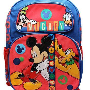 "Disney Mickey Mouse and Friends 16"" School Backpack Bag"