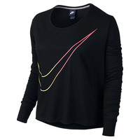 Women's Nike Long-Sleeve Large Swoosh Prep T-Shirt