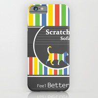 Scratch Sofa Feel Better iPhone & iPod Case by Bad English Cat