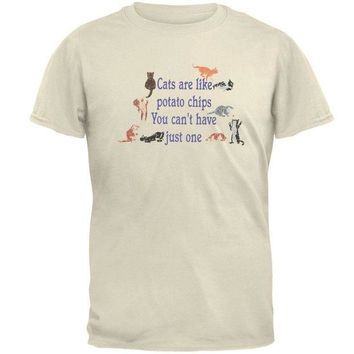DCCKJY1 Cats Are Like Potato Chips Adult T-Shirt
