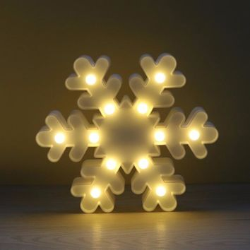 LED Night Light Kids Christmas Tree Bell Snowflake Elk Bedroom Bedside Lamp Room Party Decoration
