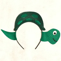 Turtle headband theme birthday party favors photo booth prop costume dress up pretend play Halloween