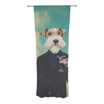 "Natt ""Passenger 8F"" Schnauzer Decorative Sheer Curtain"