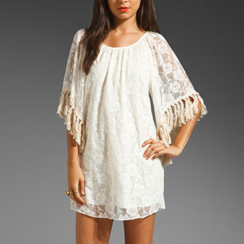 VAVA by Joy Han Antoinette Tassel Dress in Ivory from REVOLVEclothing.com