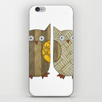 4 Gold Owls iPhone & iPod Skin by Erin Brie Art
