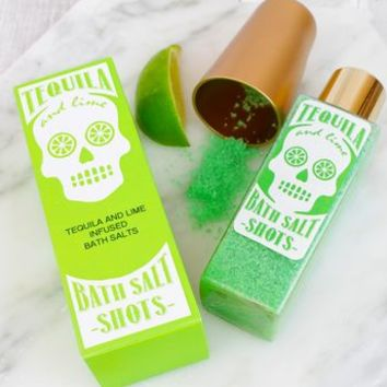 Tequila And Lime Bath Salt Shots