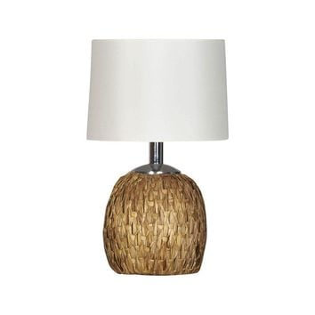 Pre-owned 1960s Raymor Woven Rush Table Lamp