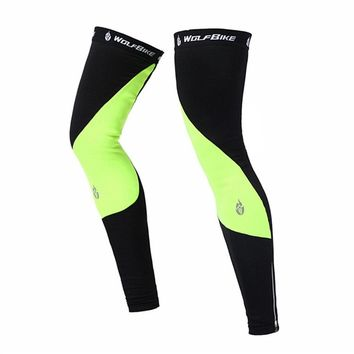 Unisex Outdoor Sport Bike Bicycle Leg Warmer Thermal Winter Guard Knee Running Sleeves Cycling Leg Sunscreen Protect Windproof
