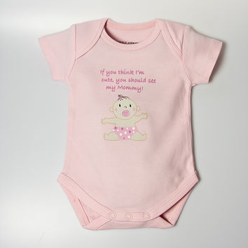 Cute as Mommy Baby Bodysuit