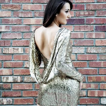 The Detonator Gold Sequin Dress