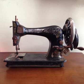 Vintage industrial singer sewing machine