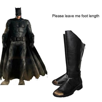 Justice League Unisex Batman Cosplay Shoes  Boots Batman Superhero