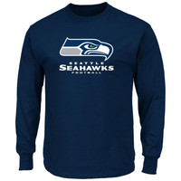 Seattle Seahawks Critical Victory VIII Long Sleeve T-Shirt – College Navy