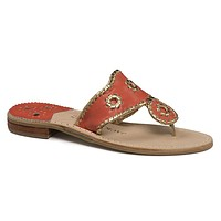 Nantucket Gold Sandal in Fire Coral and Gold by Jack Rogers - FINAL SALE