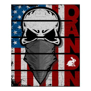 Q Anon The Great Awakening American Flag Patriotic Poster