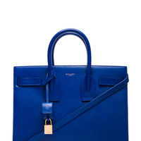 Saint Laurent | Small Sac De Jour Carryall Bag in Royal Blue www.fwrd.com
