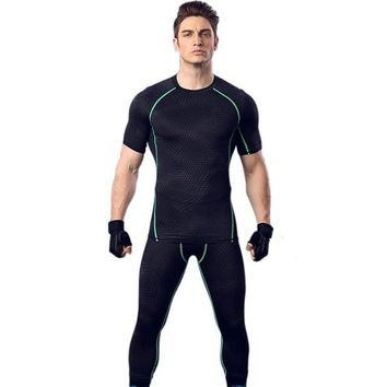 Running Vests Jogging 2018 New Men's Sport Compression Athletic Gym  Fitness Elastic Breathable Undershirts Male Tank Shirt KO_11_1
