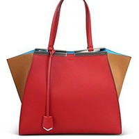 Fendi 3 Jours Leather Shopper Tote