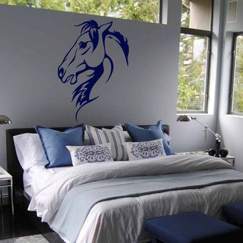 ik685 Wall Decal Sticker head horse nag pet stallion thoroughbred horse bedroom
