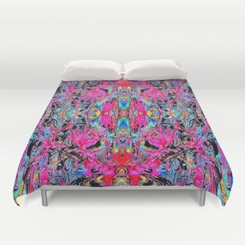 Sophisticated Psychedelic Boho Duvet Cover by Azima