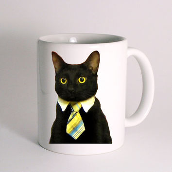 Bussines Cat for Mug Design
