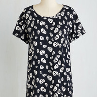 Skulls Long Short Sleeves Weekend Ease Tunic in Skulls by ModCloth