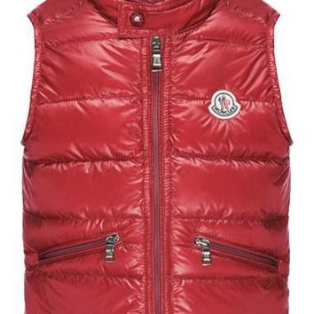 Boy's Moncler 'Gui' Water Resistant Quilted Down Vest,