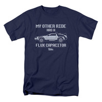 Back To The Future Men's  Other Ride T-shirt Navy