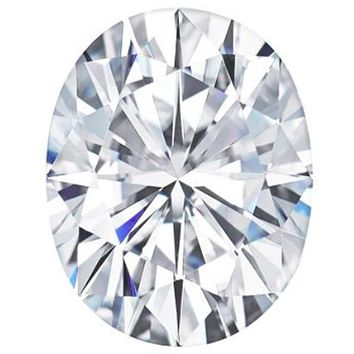 Oval Shaped Forever One™ Moissanite Gemstone - Colorless (D-E-F)
