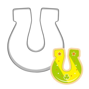 1pc Horseshoe Stainless Steel Cookie Cutter Cake Mold Biscuit Stamp Mold Cake Stencil Cake Decorating