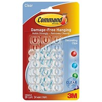 3M Command™ 20-Pack Clear Decorating Clips