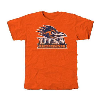 UTSA Roadrunners Distressed Primary Tri-Blend T-Shirt - Orange