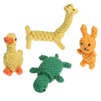 4Pcs/set Animal-Shape Dog Toys Puppy Pet Tooth Cleaning Biting Ropes Toys for Small Dog Cats Pet Supplies