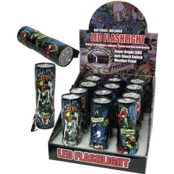 Tattoo Graphic LED Mini Flashlights - CASE OF 48