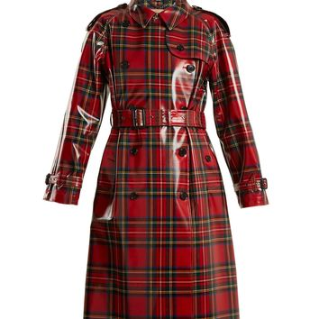 Laminated-tartan wool trench coat | Burberry | MATCHESFASHION.COM US