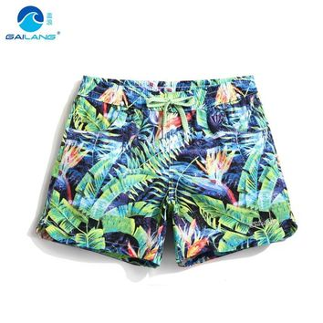 8559cc3f71 Beach surfing bermudas women board shorts bermudas swimming trunks print  flowers sweat quick dry elastic runnning