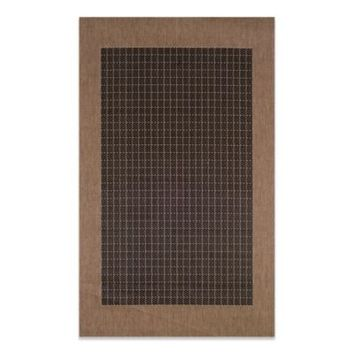 Couristan® Checkered Field Rug in Black/Cocoa