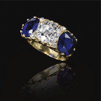 Sapphire and diamond ring, circa 1890 | lot | Sotheby's