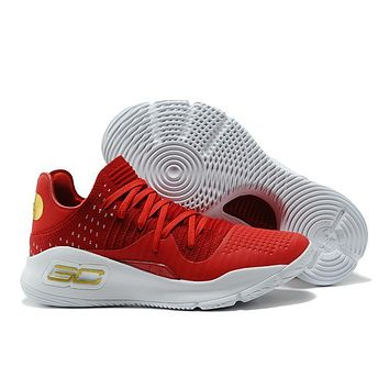 Under Armour Sc30 Stephen Curry 4 Low Red/white Sport Sneaker | Best Deal Online