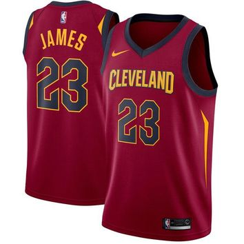 Men's Cleveland Cavaliers LeBron James Nike Maroon Swingman Jersey - Icon Edition