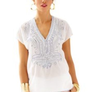 Ibiza Embellished Caftan Top - Lilly Pulitzer