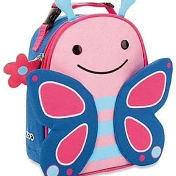 Insulated Lunch Bag Thermal KIDS Pink Butterfly Backpack Girls  Storage School