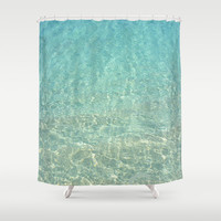"Shower Curtain - 'Clear Water' - 71"" by 74"" Home, Decor, Bathroom, Bath, Dorm, Girl, Christmas, Gift, Ocean, Turquoise"