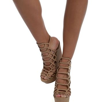 Natural Caged In Wedges